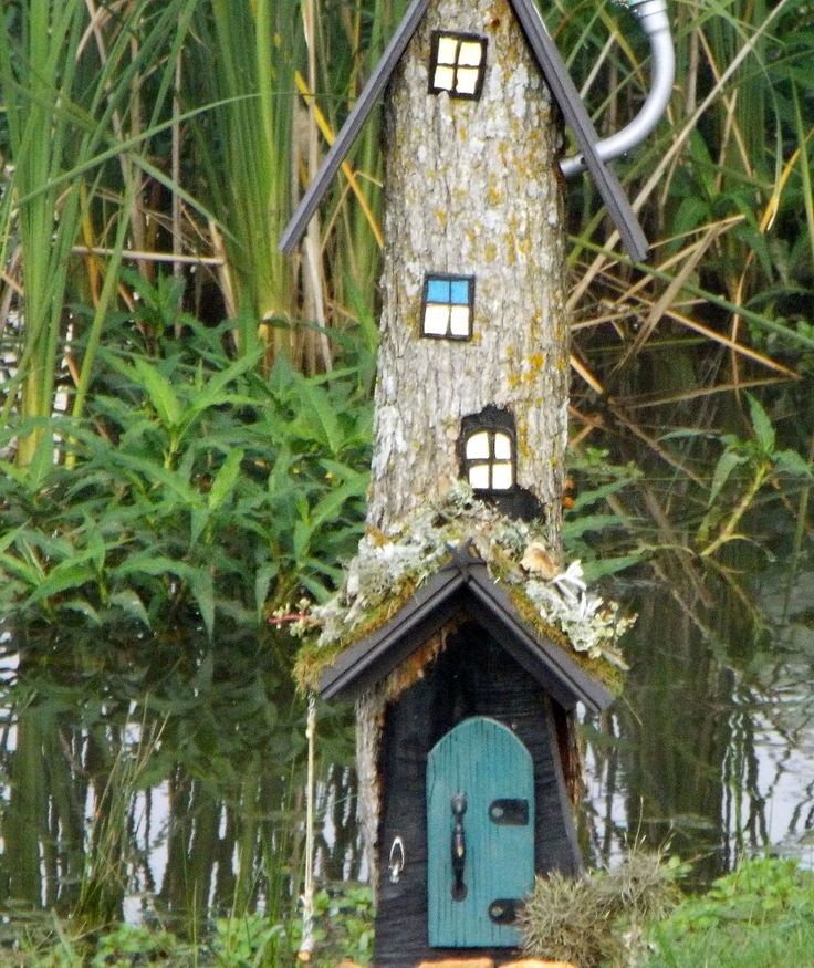 Most People Remove Rotten Old Tree Stumps, But Look What This Cool Granny  Did Instead! Gnome GardenFairies ...