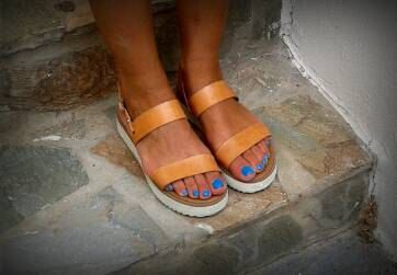 A personal favorite from my Etsy shop https://www.etsy.com/listing/238530059/greek-leather-summer-flat-sandals-in