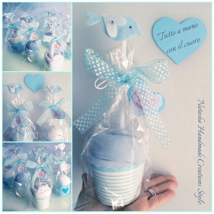 Baby body gifts cupcakes