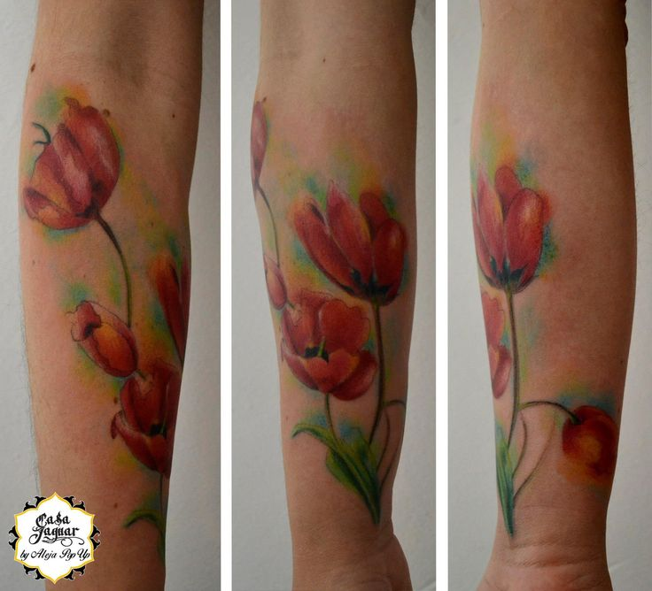 #watercolortattoo #flowertattoo