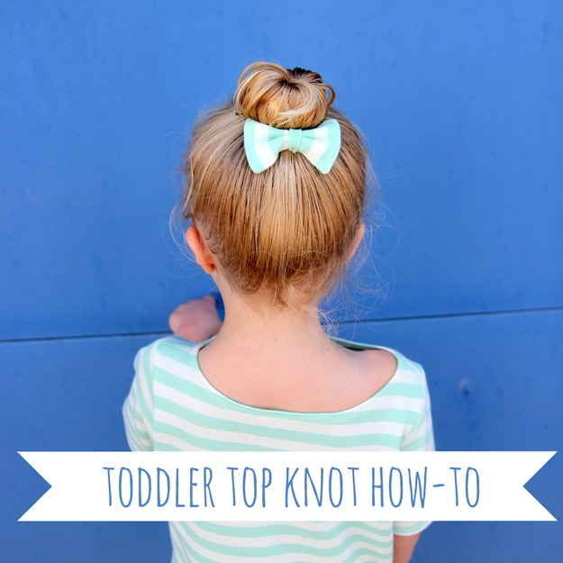 Toddler Top Knot (&other hair styles for little girls)