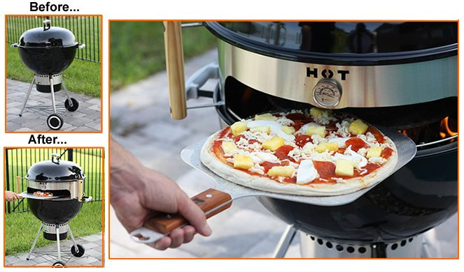 Imagine authentic woodfired pizza from your kettle grill.  The KettlePizza® insert will turn your grill into a real pizza oven!