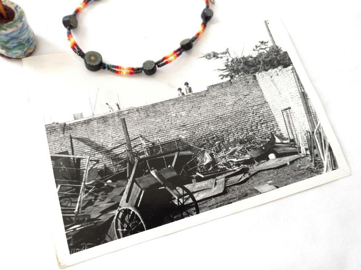 Photo Mexico Brick Wall Mexican Children Weather Disaster Tornado Hurricane Damage Black White Photograph 5x7 Latino Scrapyard Junkyard by CollectionSelection on Etsy