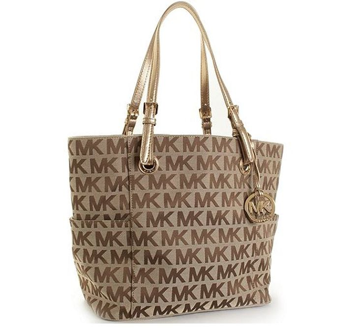 Tote Bag On Sale, Camel Brown, Leather, 2017, one size Michael Kors