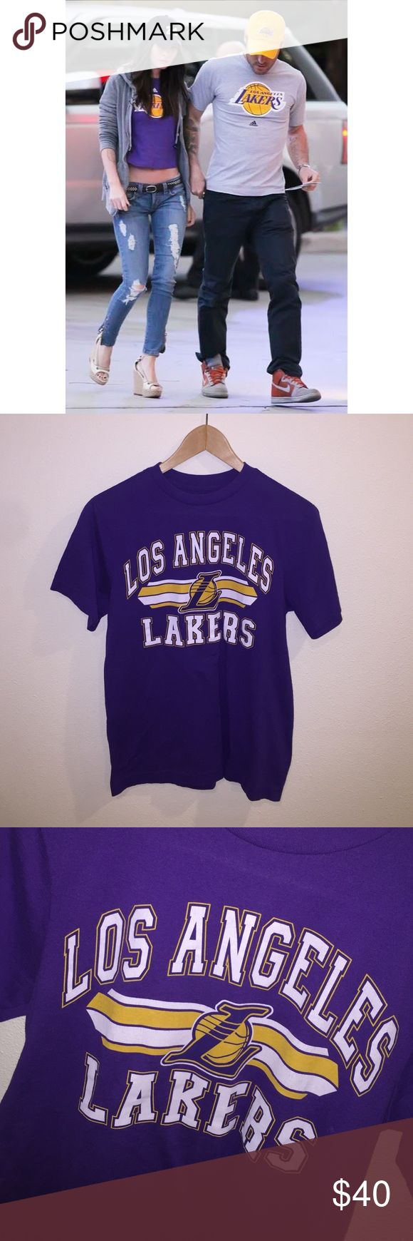 [Vintage] •Los Angeles Lakers T-Shirt• Awesome Deadstock Vintage L.A. Lakers T-Shirt in great condition. Women's size XL. I may cut this into a crop top - please let me know if you'd be interested in that. Vintage Tops Tees - Short Sleeve