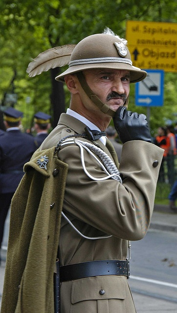 National Constitution Day, Krakow, Poland Podhalańczyk - mountain soldier uniform from Podhale