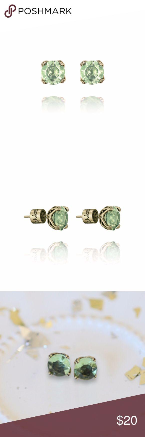 "Round Peridot Birthstone Stud Earrings Peridot is the birthstone of August!   antique brass-plated nickel-free plating 0.25"" approx. width stainless steel post peridot glass  NEVER WORN! Chloe + Isabel Jewelry Earrings"