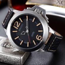 Men Top Brand Luxury Genuine Leather Strap Casual Fashion Military Army Waterproof Quartz Hot Casual Outdoor Relogio Sport Watch