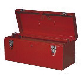 International Tool Storage 21-In Red Steel Lockable Tool Box Hbb-2100R