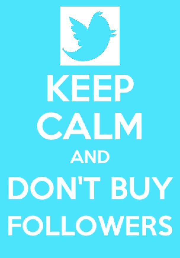 Don't Buy followers!