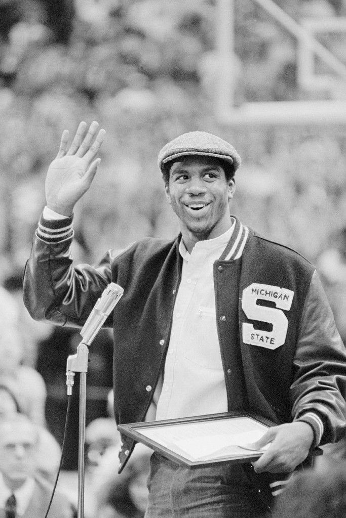 """Earvin """"Magic"""" Johnson when he played for Michigan State. I was a co-ed on campus when he was there!!"""