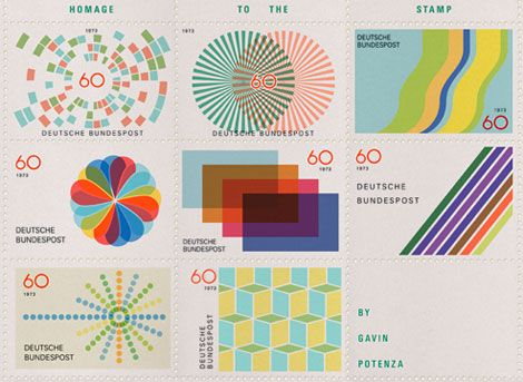 Portland based designer Gavin Potenza (Exploratory Design). The series which was inspired by the work of Otl Aicher is entitled Homage to the Stamp.