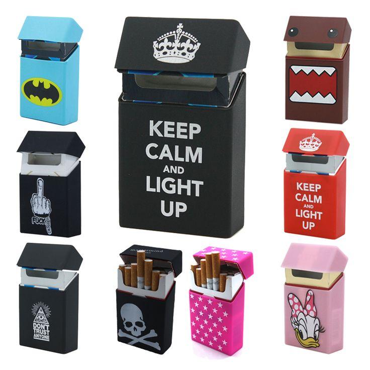 Novelty Black Silicone Holds 20 Cigarettes Cigarette Case Smoking Accessories Cigarette Box Cigarette Holder Tobacco Box