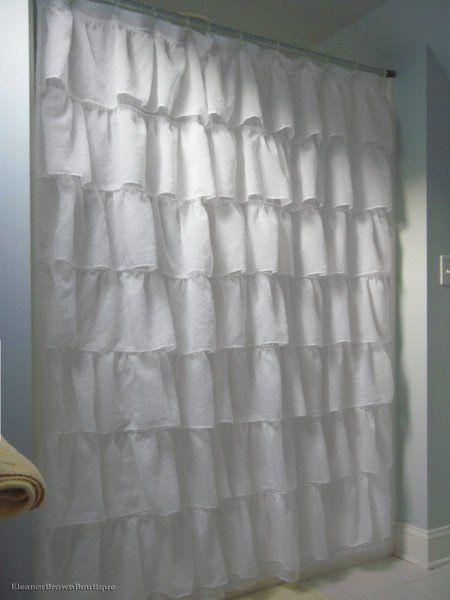 Die besten 25+ Rustikale duschvorhänge Ideen auf Pinterest - gardinen f rs badezimmer