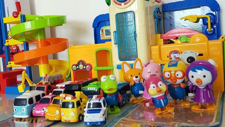Pororo Parkinglot and Tayo Bus School Play Toy & 뽀로로 주차장 타요학교