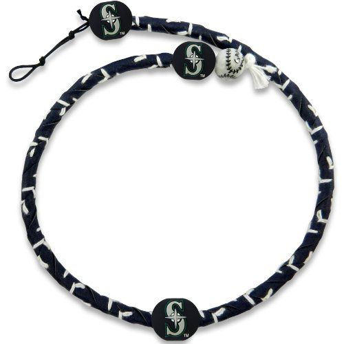 MLB Team Color Frozen Rope Baseball Necklace - Seattle Mariners  http://allstarsportsfan.com/product/mlb-team-color-frozen-rope-baseball-necklace/?attribute_pa_color=seattle-mariners  Adjustable Clasp Made from Genuine Leather Officially Licensed
