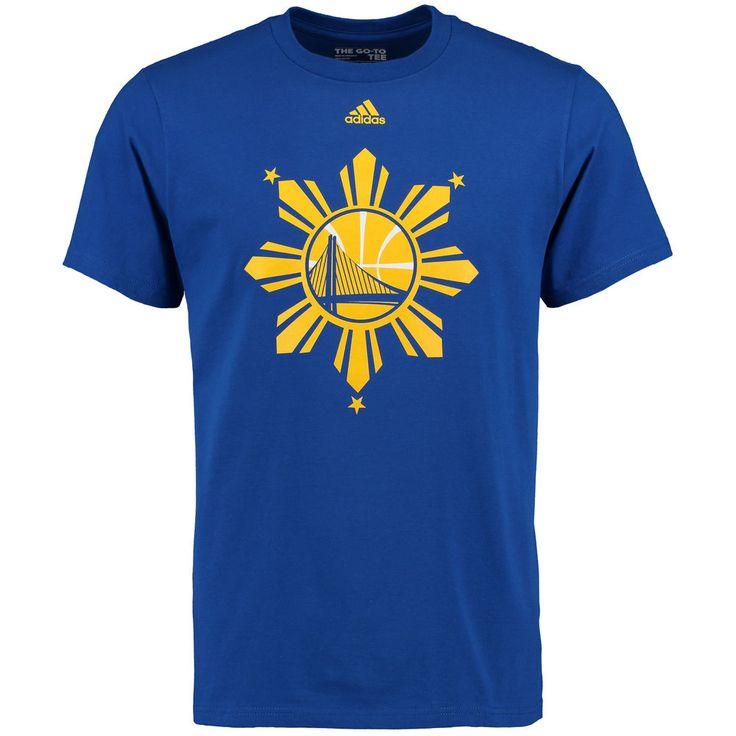 Men's Golden State Warriors adidas Royal Filipino Heritage T-Shirt