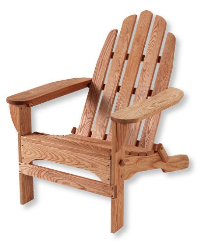 Classic Wooden Adirondack Chair: at L.L.Bean. Made in the Adirondack region of New York State of sustainable harvested wood.