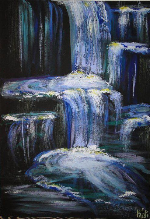 Waterfalls Acrylic My Paintings Pinterest Acrylics