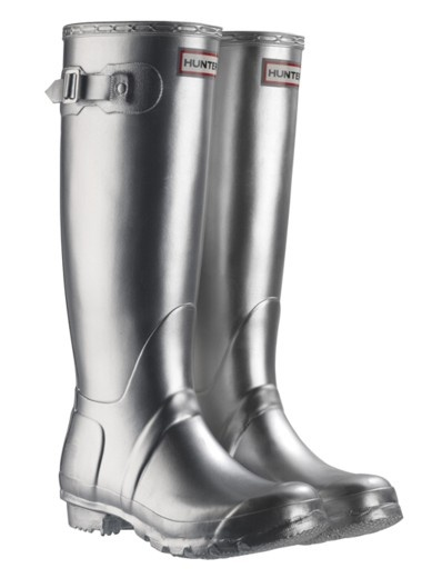 Metallic Silver Hunter Boots~ oh yes I did! They match my Airstream.