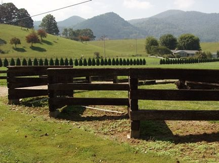 Fence made of old railroad cross ties. Each section should ...