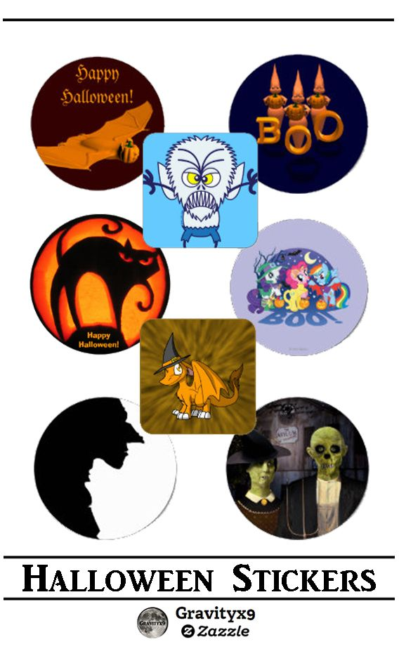 Check out the variety of Fun Stickers for Halloween by Creative Artists at Zazzle at #FallSeasonsBest -   Stickers are available in several shapes and size options. Great for gifts, scrapbooking, DIY, crafting and Halloween projects!