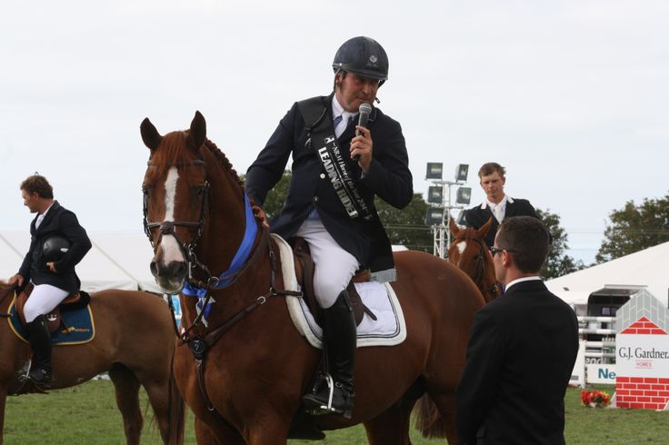 World Champion Phillipe le Jeune, from Belgium, was second equal in the Olympic Cup riding Susie Hayward's stallion Andretti