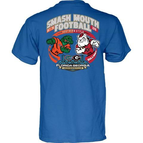 NCAA Georgia Bulldogs vs Florida Gators Smash Mouth Football Game Day Blue  T Shirt