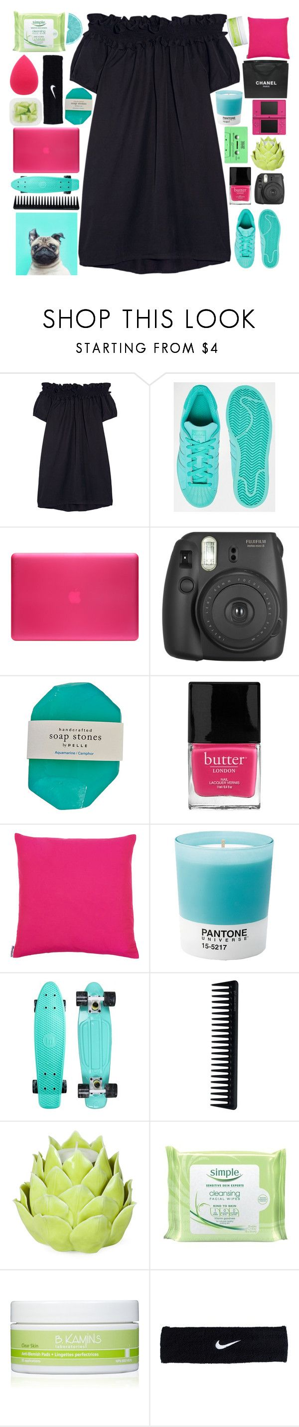 """""""In The Middle Of The Night, In My Dreams"""" by theafergusma ❤ liked on Polyvore featuring Clu, adidas, Incase, Fujifilm, Butter London, Pantone, Nintendo, GHD, Chanel and Zara Home"""