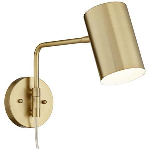 Carla Brushed Brass 12 High Down Light Swing Arm Wall Lamp 39w58 Lamps Plus Swing Arm Wall Lamps Wall Lamp Wall Lamp Design
