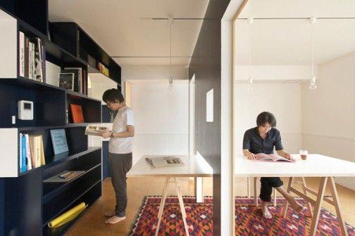 Wnętrze tego mieszkania jest zaprojektowane tak, żeby powiększyć jego powierzchnię użytkową i zróżnicować funkcje w maksymalnym stopniu. Autorem tych oryginalnych pomysłów jest Yuko Shibata. http://sztuka-wnetrza.pl/1969/artykul/projekt-wnetrza-ndash-maksimum-przestrzeni
