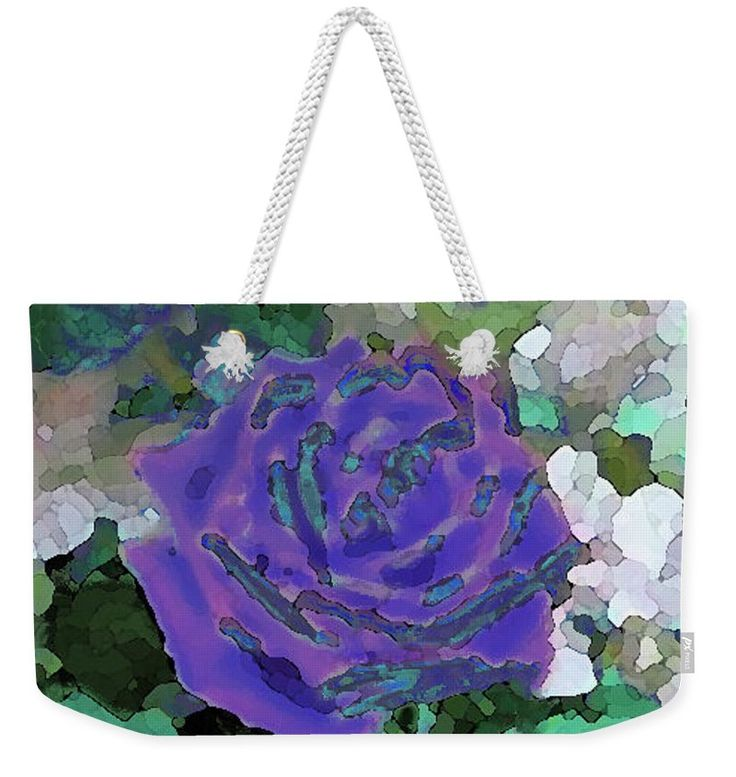 Rose Of Purple And Green Weekender Tote Bag for Sale by Corinne Carroll