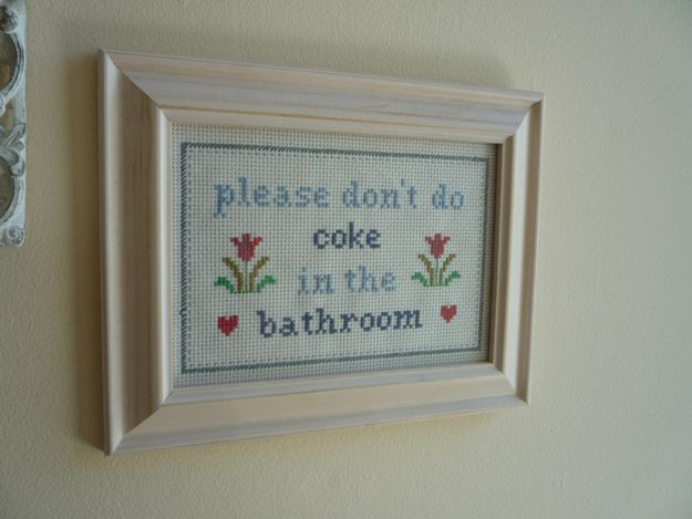 Just a friendly reminder // And other offensive cross stitches