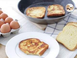 Tostadas francesas, pan perdido con brioche