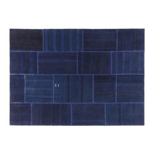 IKEA - GÖRLEV, Matta, slätvävd, Den här mattan är unik eftersom den skapats av bitar från gamla handgjorda äkta mattor från Turkiet.De gamla bitarna tvättas, färgas om och sys ihop till ett nytt och modernt konstverk.