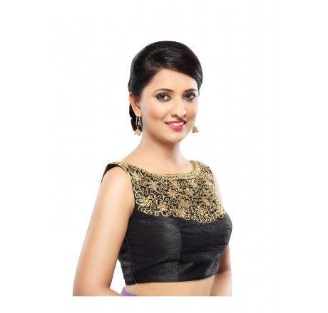 designer embroidered saree blouse