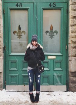 Canada Goose in the streets of Montreal. #womenstyle #outfitideas