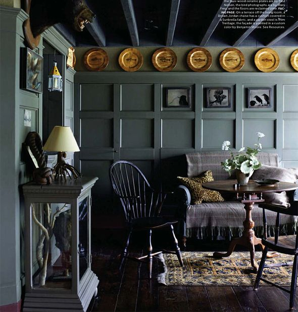 Love the palette! Elle Decor // 1793 Hudson Valley Federal Home