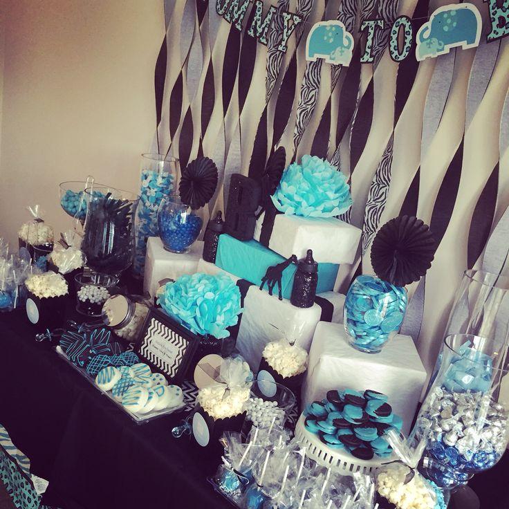 Blue Safari Candy Buffet