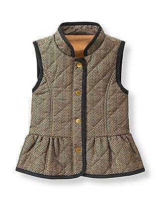 Herringbone Quilted Vest  - Janie and Jack (Countryside Ride)