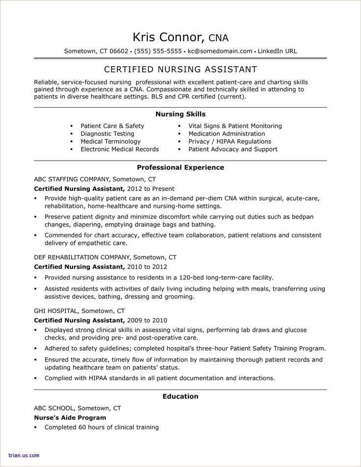Curriculum vitae for nurse medical assistant resume