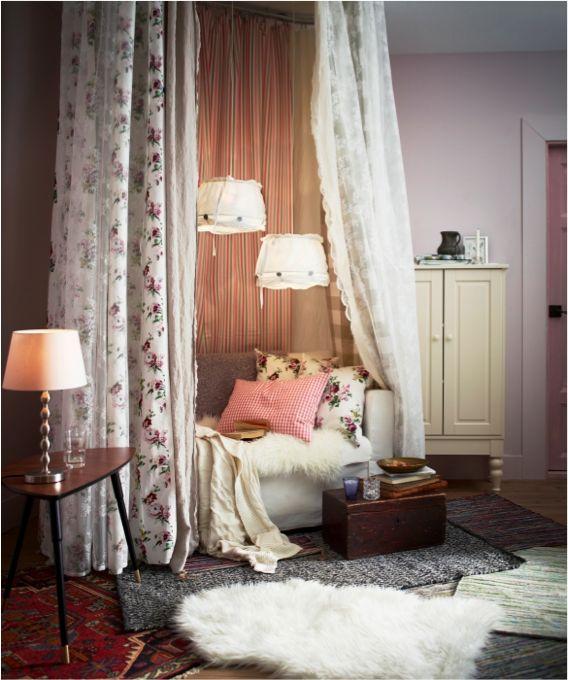 Les voilages ALVINE SPETS, un moyen simple de rendre la chambre à coucher accueillante et chaleureuse.