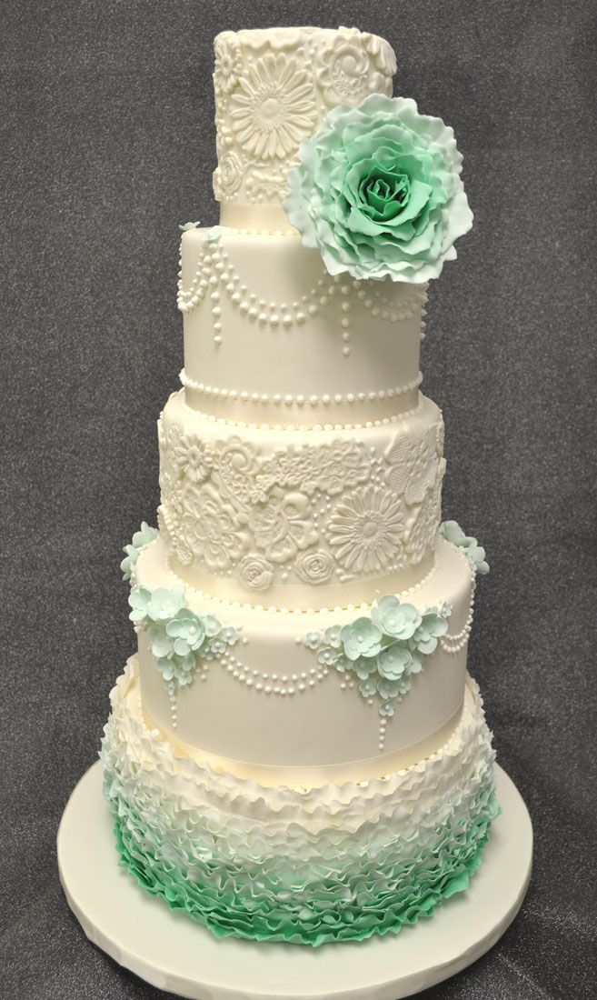 mint wedding cake best 25 mint green cakes ideas on vintage 17455