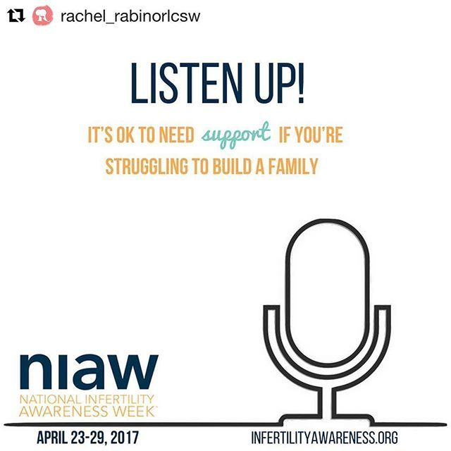 "Tomorrow is the start of National #Infertility Awareness Week. This year's campaign is encouraging people to ""Listen Up!"" If you're struggling with infertility, it's OK to ask for help. ・・・ Repost @rachel_rabinorlcsw. Check her site if you're considering joining a fertility support group. ""It can certainly feel like a risk to take that first step, to sign up and admit out loud that you need new coping skills, or more support during a difficult time."" ⠀ #sandiego #sandiegoconnection #sdlocals…"