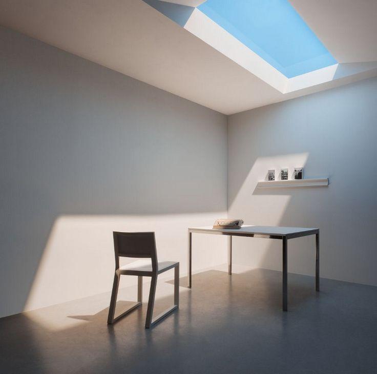 puits de lumière artificielle pour éclairer les pièces sombres : mobilier minimaliste design