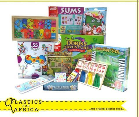 At #PlasticsforAfrica, we stock a wide selection of #educational puzzles and games, such as wooden puzzles, counting sticks, blocks and numbers as well as alphabet games. Visit your nearest branch today.