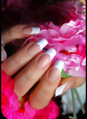 Long french manicure