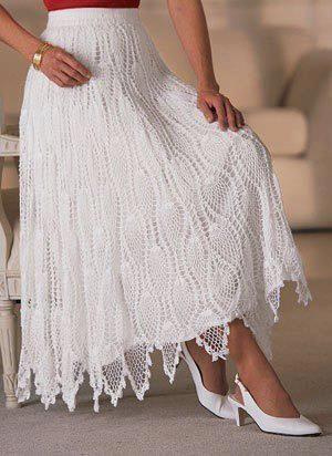 saia longa branca