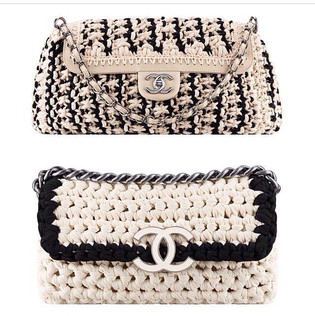 Summer 2014 crochet clutches from Chanel -Inspiracion- ✭Teresa Restegui http://www.pinterest.com/teretegui/ ✭