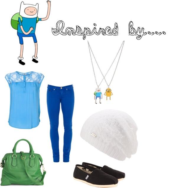 """Finn - Adventure Time"" by thegeekinadress on Polyvore"